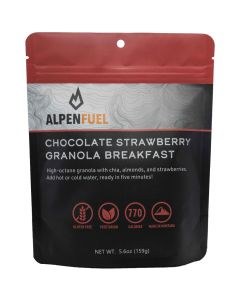 Alpen Fuel Chocolate Strawberry Granola Breakfast Backpacking Meal