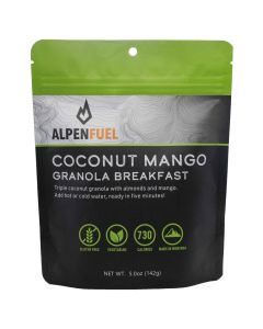 Alpen Fuel Coconut Mango Granola Breakfast Backpacking Meal