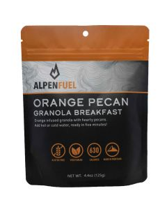 Alpen Fuel Orange Pecan Granola Breakfast Backpacking Meal