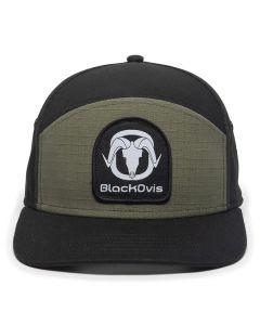 BlackOvis 5 Panel Patch Hat