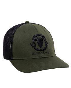 BlackOvis 6-Panel Trucker Hat - Olive