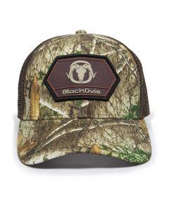 BlackOvis Hunter Hex Patch Trucker Hat - Brown/Realtree Edge