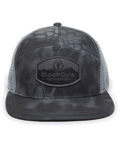BlackOvis Mountain Patch 5 Panel Flat Bill Hat - Typhon