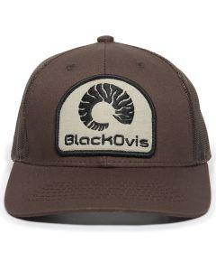 BlackOvis Ram Horn Patch Trucker Hat
