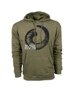 BlackOvis Triblend Lightweight Hoodie - Olive