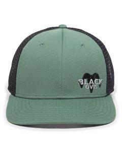 BlackOvis Women's Silicone Logo Trucker Hat