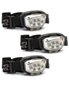 Cyclops Trio 300 Lumen Headlamp - 3 Pack