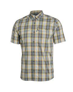 Sitka Globetrotter Short Sleeve Shirt - Aluminum Plaid