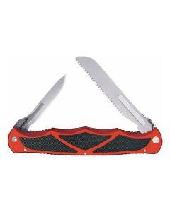 Havalon Hyrda Dual Blade Folding Knife - Red