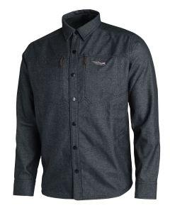 Sitka Highland Overshirt - Front - Sitka Black