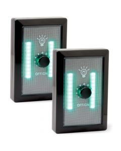 HME COB Green LED Light Switch w/ Dimmer 2 pack