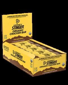 Honey Stinger Organic Cracker N Nut Bars - Box of 12 - Almond Butter & Dark Chocolate
