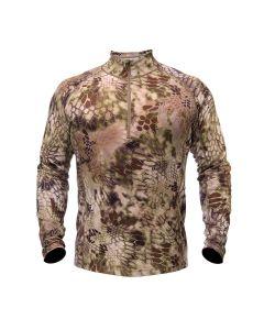 Kryptek Hoplite Merino Long Sleeve 1/4 Zip - Highlander