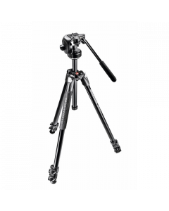 Manfrotto 290 Xtra Aluminum 3-Section Tripod Kit with Fluid Video Head
