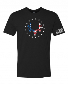 Muley Freak Red, White and Blue Short Sleeve T-Shirt