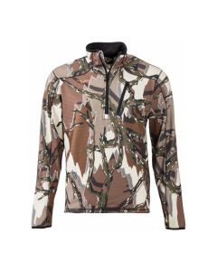 Predator Camo Kompass Fleece Performance 1/4 Zip Jacket - Brown Deception