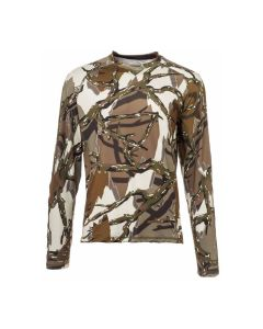 Predator Camo Performance Long Sleeve Crew Top - Brown Deception