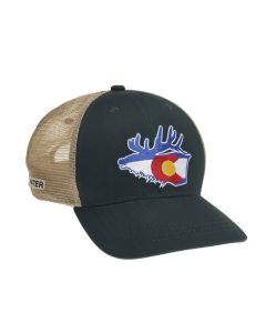 Rep Your Water Colorado Mesh Back Hat - Elk/Forest/Tan