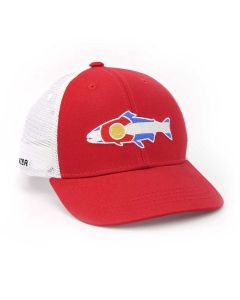 Rep Your Water Colorado Mesh Back Hat - Trout/Red
