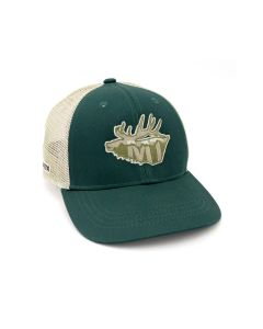 Rep Your Water Montana Elk Mesh Back Hat - Forest/Tan