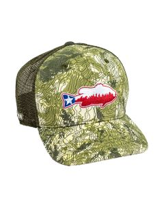 Rep Your Water Topo Camo Mesh Back Hat - Texas Bass