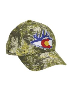 Rep Your Water TopoCamo Full Fabric Hat - Colorado Elk