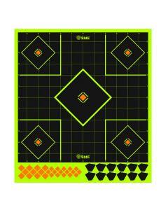 SME 12 inch Splatter Sight in Paper Target 6 Pack
