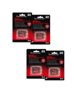 Stealth Cam 32GB SD Card 4 Pack