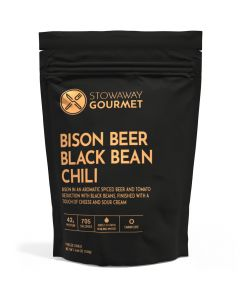 Stowaway Gourmet Bison Beer Black Bean Chili Freezed-Dried Meal