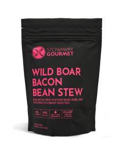 Stowaway Gourmet Wild Boar Bacon Bean Stew Freeze-Dried Meal