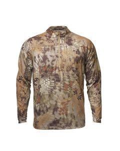 Kryptek Valhalla II LongSleeve 1/2 Zip Tee Shirt - Mandrake & Highlander Colors Available