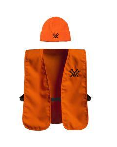 Vortex Blaze Orange Hunting Vest and Beanie Combo