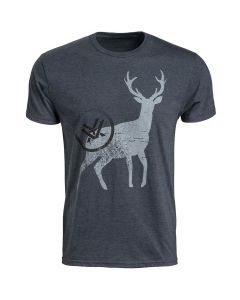 Vortex Short Sleeve Buck Tracks Logo T-Shirt