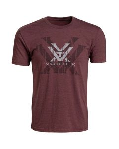 Vortex Short Sleeve Double Logo T-Shirt - Burgundy