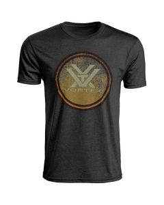 Vortex Short Sleeve Fade Out T-Shirt - Charcoal