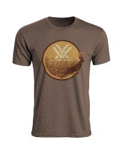 Vortex Short Sleeve Fall Flush Logo T-Shirt - Brown