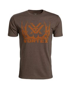 Vortex Short Sleeve Full-Time Job T-Shirt - Brown