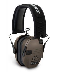 Walker's Game Ear Razor Slim Electronic Muff - Dark Brown