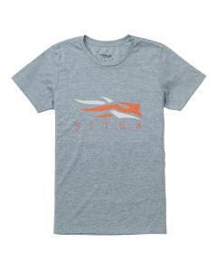 Sitka Youth Logo Short Sleeve Shirt Grey