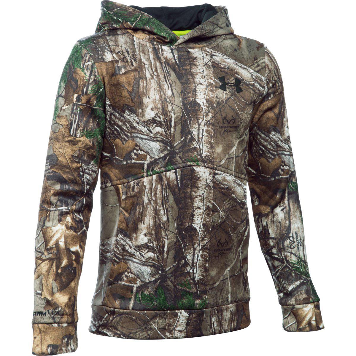 kids under armour camo jacket