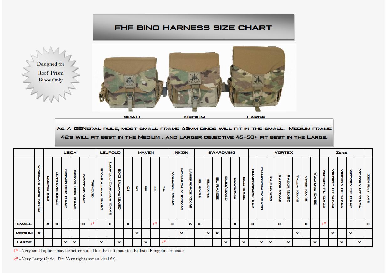 FHF Gear | FHF Binocular Harnesses | Black Ovis