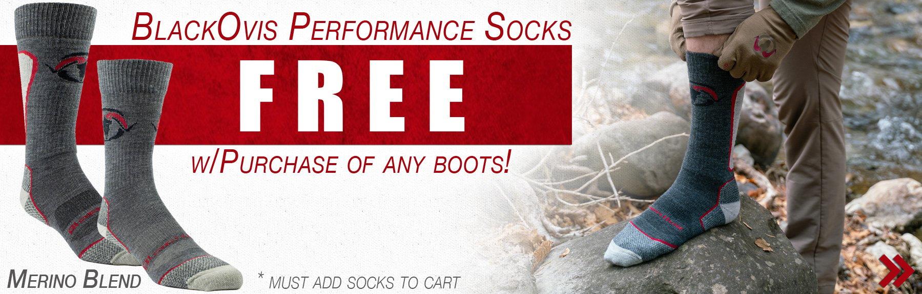 Free BlackOvis Merino Socks with Boots