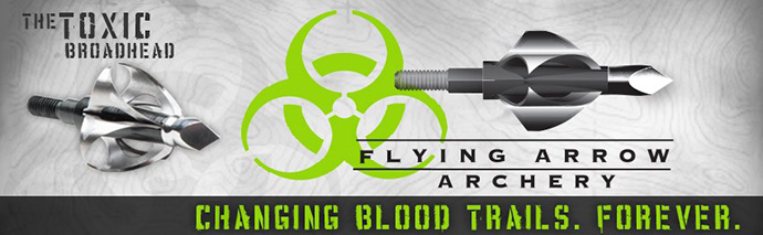Toxic Broad heads by Flying Arrow Archery