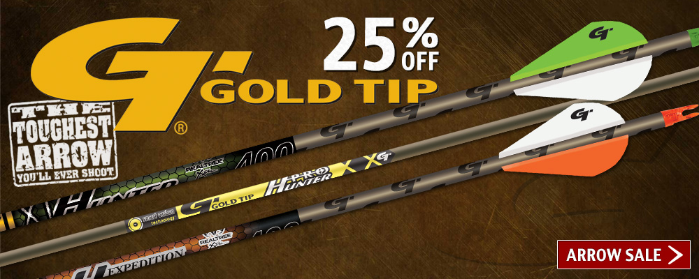 Gold Tip Arrow Sale