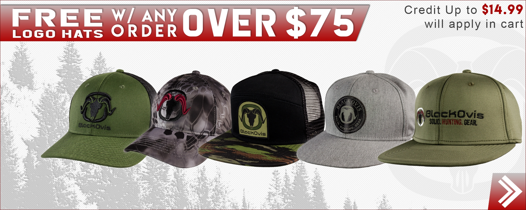 Free BlackOvis Logo Hat w/ Purchase over 75