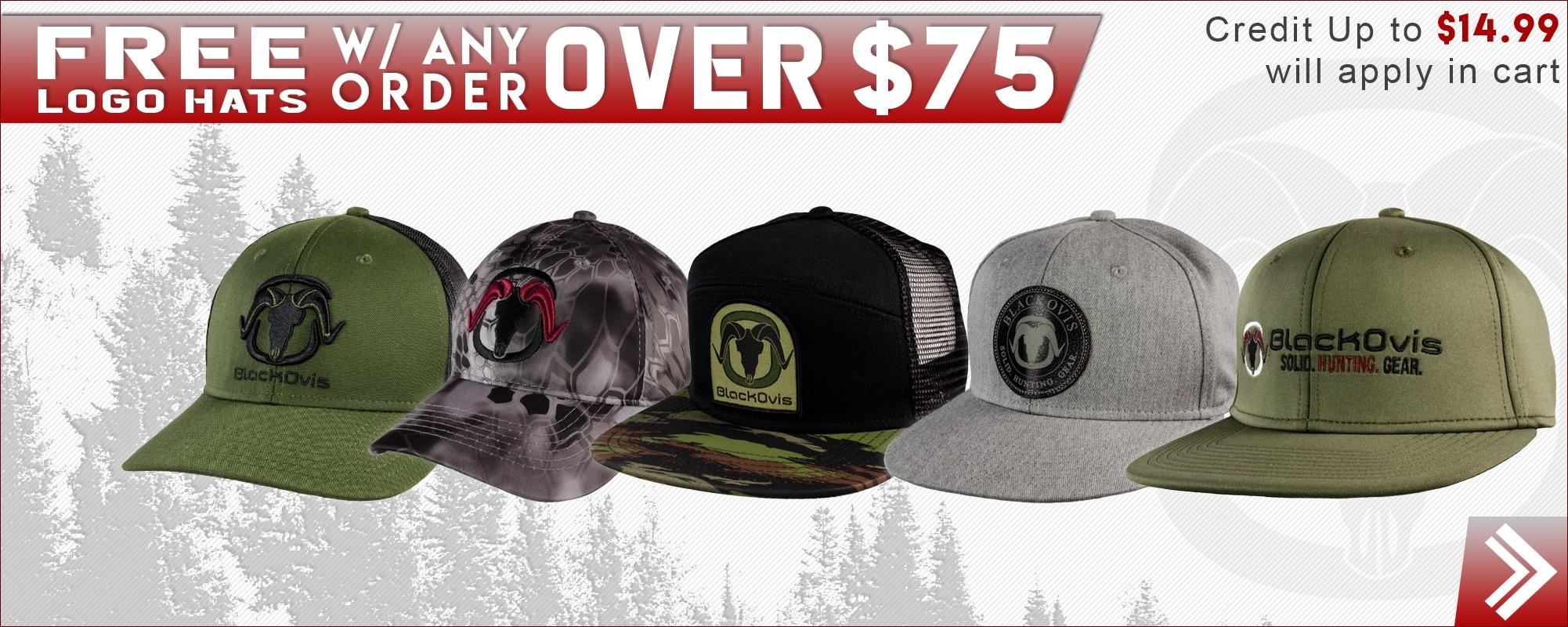 Free BlackOvis Logo Hat w/ Purchase over 75
