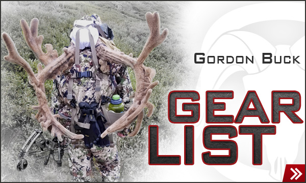 Gordon Buck Gear List