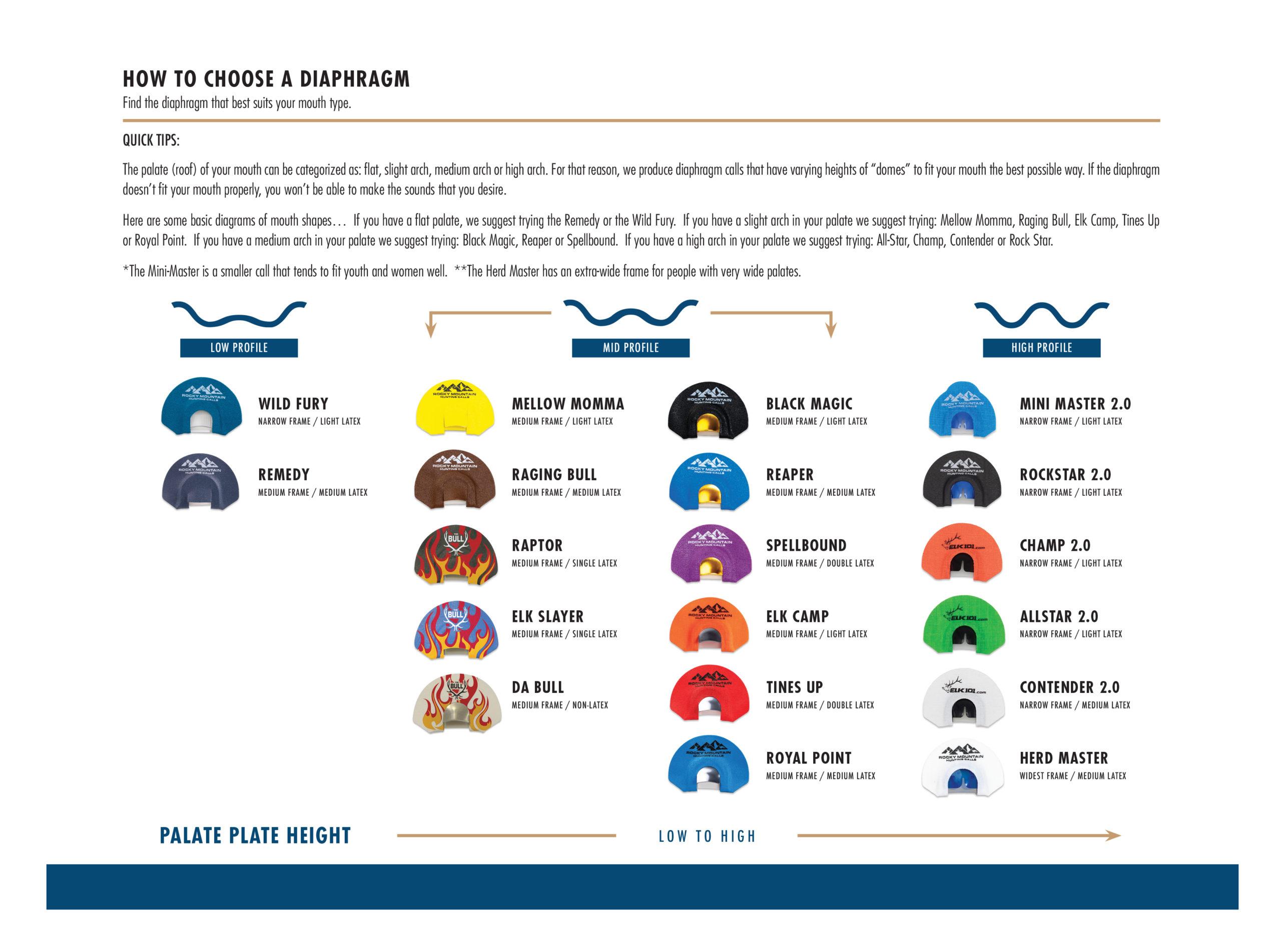 Bugling Bull Mouth Chart