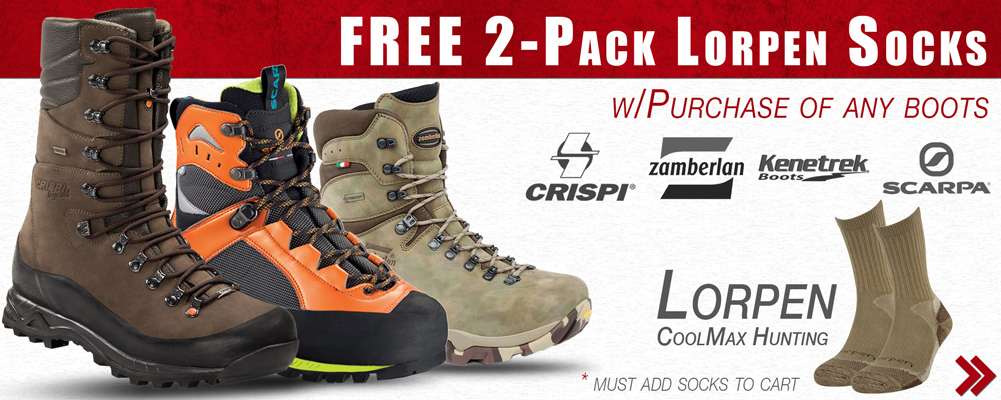 Free Socks with Boot Purchase